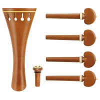 c:dix Classic Set, Boxwood, White Trim, 6-Piece Set, Violin 4/4, Thin
