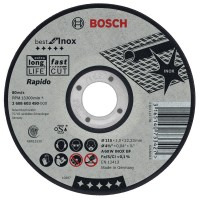 Bosch Rapido Straight Cutting Disc Best for INOX, 125 mm