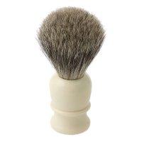 Shaving Brush Thiers-Issard, Badger Hair, Plastic Handle, White
