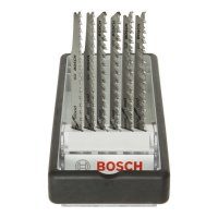 Bosch Lames de scie sauteuse, Robust Line - Wood Expert, 6 pièces