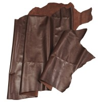 Imitation-Printed Calf Leather, Medium Brown