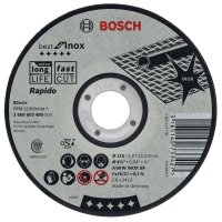 Bosch Rapido Straight Cutting Disc Best for INOX, 115 mm