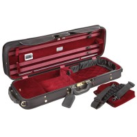 Jakob Winter Super Light Oblong Case, Violin 4/4, black/red
