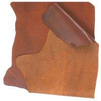 Cuir de bovin suédois, quart de peau, brun, 0,85-0,95 m²