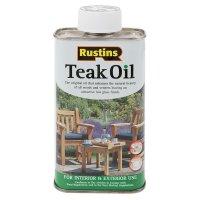 Rustins Teak Oil, Food-safe, 250 ml
