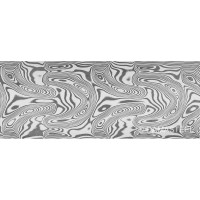Damasteel DS93X Thor Damascus Steel, 32 x 2.5 x 210 mm