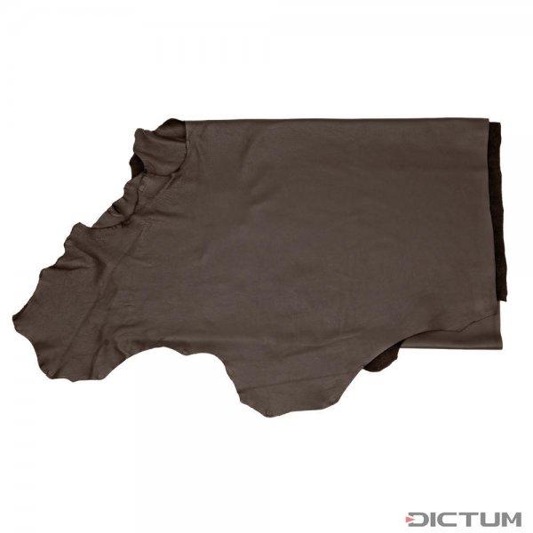 Skóra bydlęca garbowana z użyciem oliwek, połowa, czarny brąz, 2,2-2,4 m²