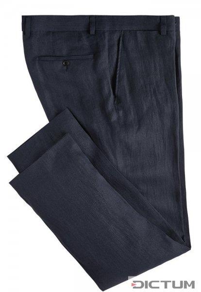 Herrenhose Irisches Leinen, dunkelblau, Größe 48