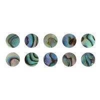Boutons de nacre Paua, 10 pièces, Ø 5 mm
