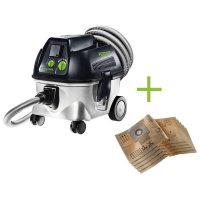 Festool Mobile Dust-extractor CLEANTEC CT 17 E + 5 Filter Bags