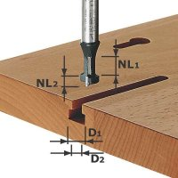 Festool T-Nutfräser Schaft 8 mm HW S8 D10,5/NL13