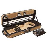 Pro-Case Oblong Case, Violin 4/4 - 3/4, Brown/Brown-Beige