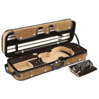 Pro-Case Oblong Case, Violin 4/4 - 3/4, Brown/Brown-Beige