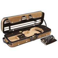 Pro-Case Kofferetui, Violin 4/4 - 3/4, braun/braun-beige
