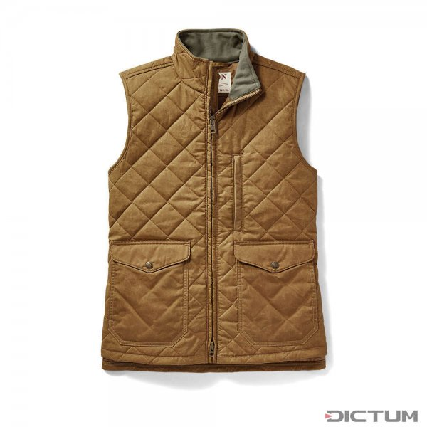 Filson Women's Quilted Mile Marker Vest, Tan, XS