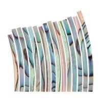 Perlmutter-Einlagen Satz, Paua geflammt, Breite 1,6 mm