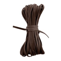 Kangaroo Braiding Laces, Flat, Dark Brown