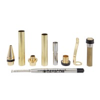 Ballpoint Pen Set Pisa, Gold, 5-Piece Set