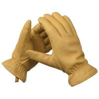 Sensitive-grip Elk Leather Gardening Gloves, Lined, Size 9