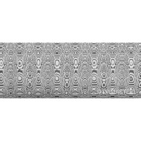 Damasteel DS93X Ladder Damascus Steel, 32 x 4 x 210 mm