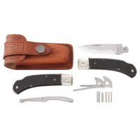 Hiro Folding Knife Kit Suminagashi, structured Micarta
