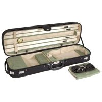 Brescia Oblong Case, Violin 4/4, Black/Green-Creme