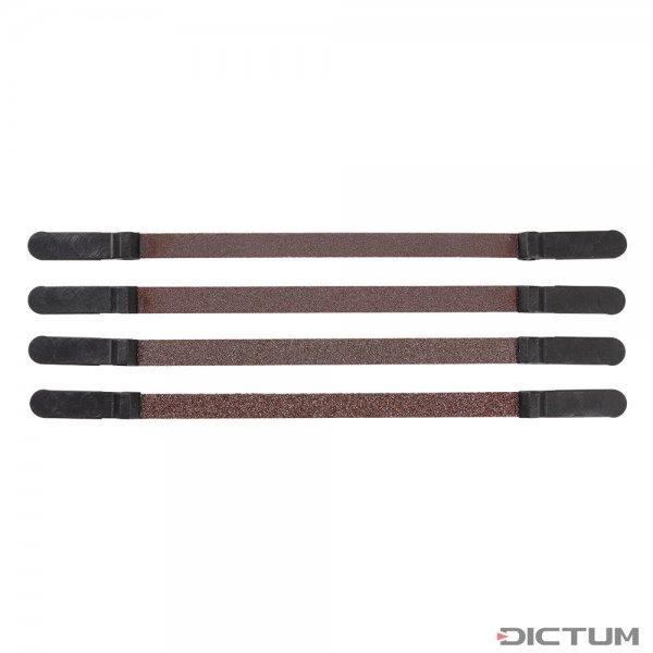 Nastri abrasivi Pégas, larghezza 6 mm, 4 pezzi, grana 80
