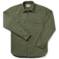 Filson 6-oz. Drill Chino Shirt, Olive, taille M