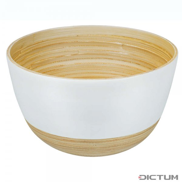 Ciotola di bambù BiMa, grande, bianca