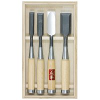 Hattori Carpenter's Chisels, 4-Piece Set