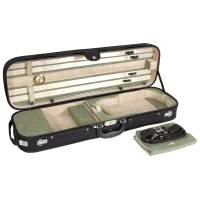 Brescia Oblong Case, Violin 4/4, Black/Green-Creme