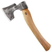 DICTUM Bearded Hand Hatchet with Cranked Handle, Left Bevel