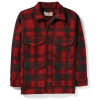 Filson Mackinaw Wool Cruiser, Red/Black Plaid, taglia M