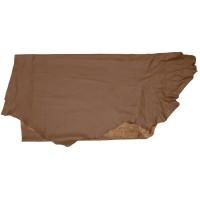 Peau de bovin tannée à l'olivier, demi-peau, brun foncé, 2,6-2,8 m²