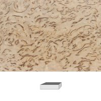 Bouleau madré, qualité supérieure » veinure extrêmement fine «, 120 x 40 x 30 mm