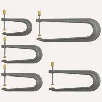 Aluminium Repair Clamps, 5-Piece Set