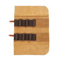 Leather Tool Roll Deluxe, 6 Pockets