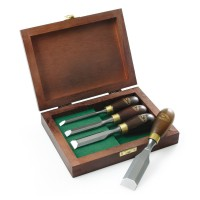 Crown Mini Chisels, Rosewood Handle, 4-Piece Set