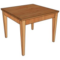 Classic Side Table made of Solid Wood