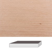 Rotbuche gedämpft, 300 x 60 x 60 mm