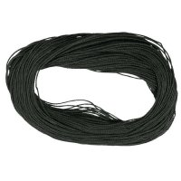 Linen Thread, Unwaxed, Black, Thickness 0.8 mm