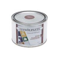 Pâte d'huile de lin, hématite minium de fer