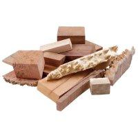 Chutes de bois précieux australiens avec veinures, 5 kg