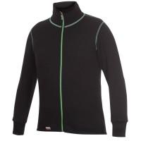 Woolpower Cardigan, Black/Light Green, 400 g/m², Size XS