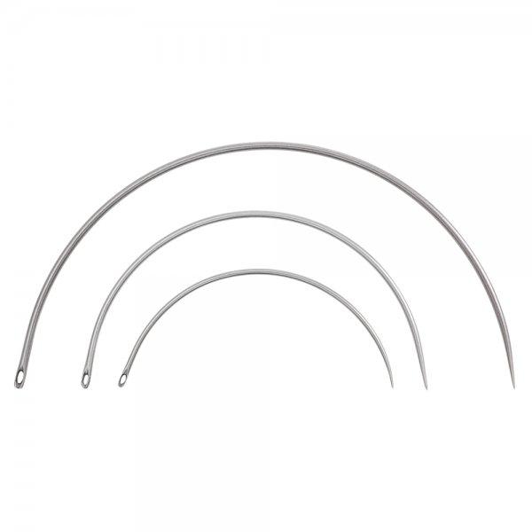 Juego de agujas curvas, 3 unidades, 125-250mm