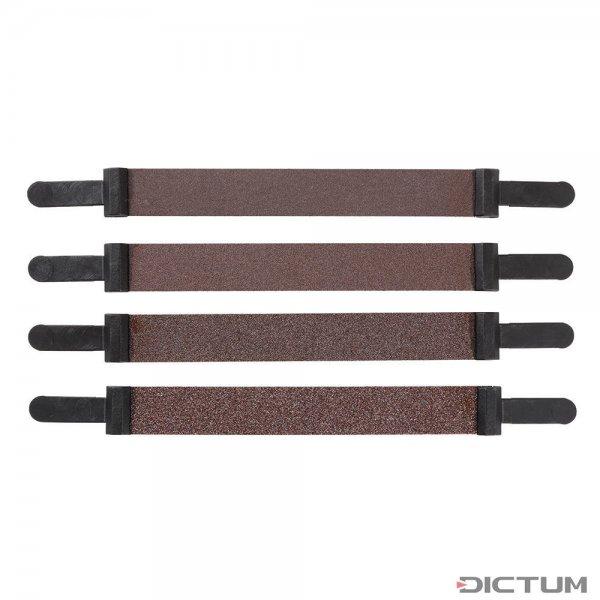 Bandes abrasives Pégas, largeur 12 mm, 4 pièces, grain 80