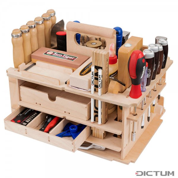 DICTUM Tool Carrier »Cabinet making, Interior Work«, Equipped, 42-Piece Set