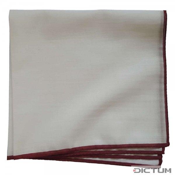 Taschentuch mit rotem Rand, Baumwolle, weiß