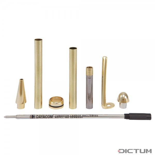 Kugelschreiber-Bausatz Manta, gold, 5 Stück