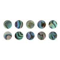 Mother of Pearl Eyes Paua, 10-Pce Set, Ø 5 mm